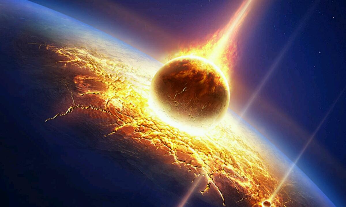 Zer gertatzen da meteorito erraldoi bat Lurrean erortzen bada?