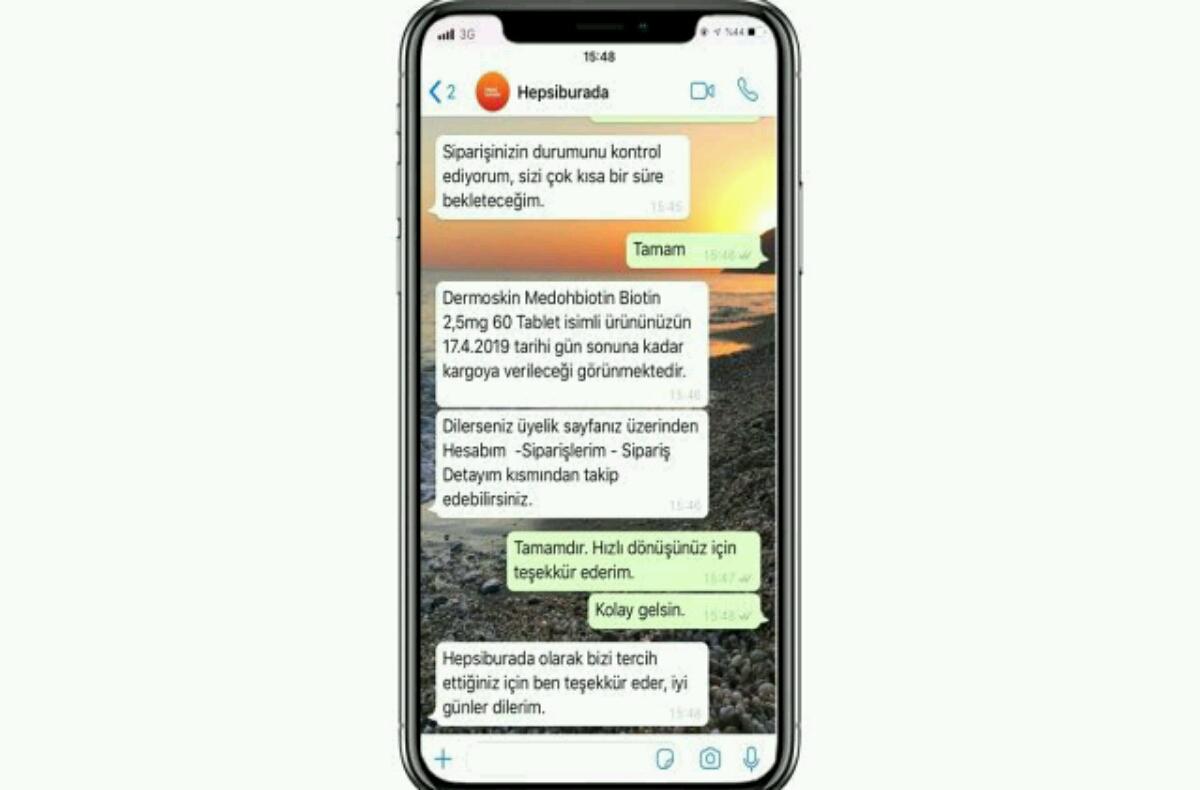 Hepsiburada bezeroarentzako zerbitzura konektatu zaitezke Whatsapp bidez!