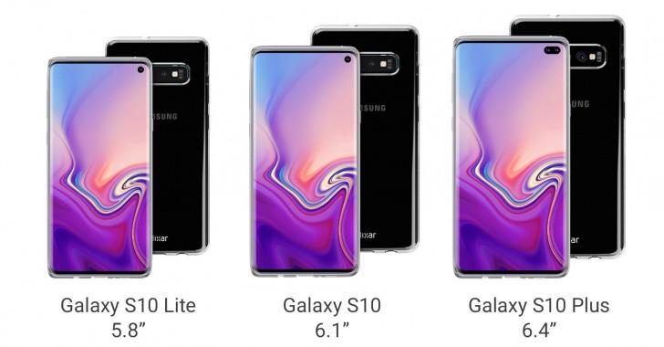 Samsung Galaxy S10 familiak bere burua erakutsi zuen