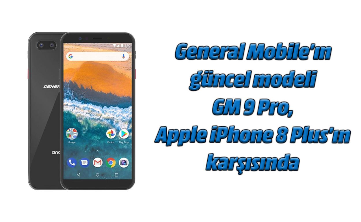 GM Orokorra 9 Pro eta iPhone 8 Gainera argazki konparazioa