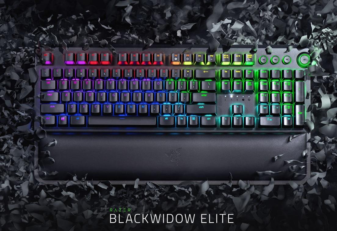 Razer Blackwidow Elite joko mekanikoko teklatuaren berrikuspena