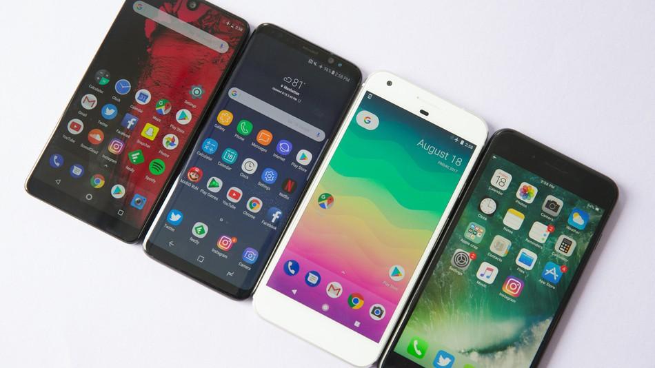 Android telefono azkarrenak (2018ko urria)
