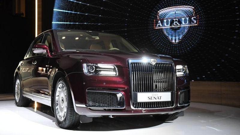 Putinen bulegoko auto berria Aurus Senatek Rolls-Royce izango du aurkari!
