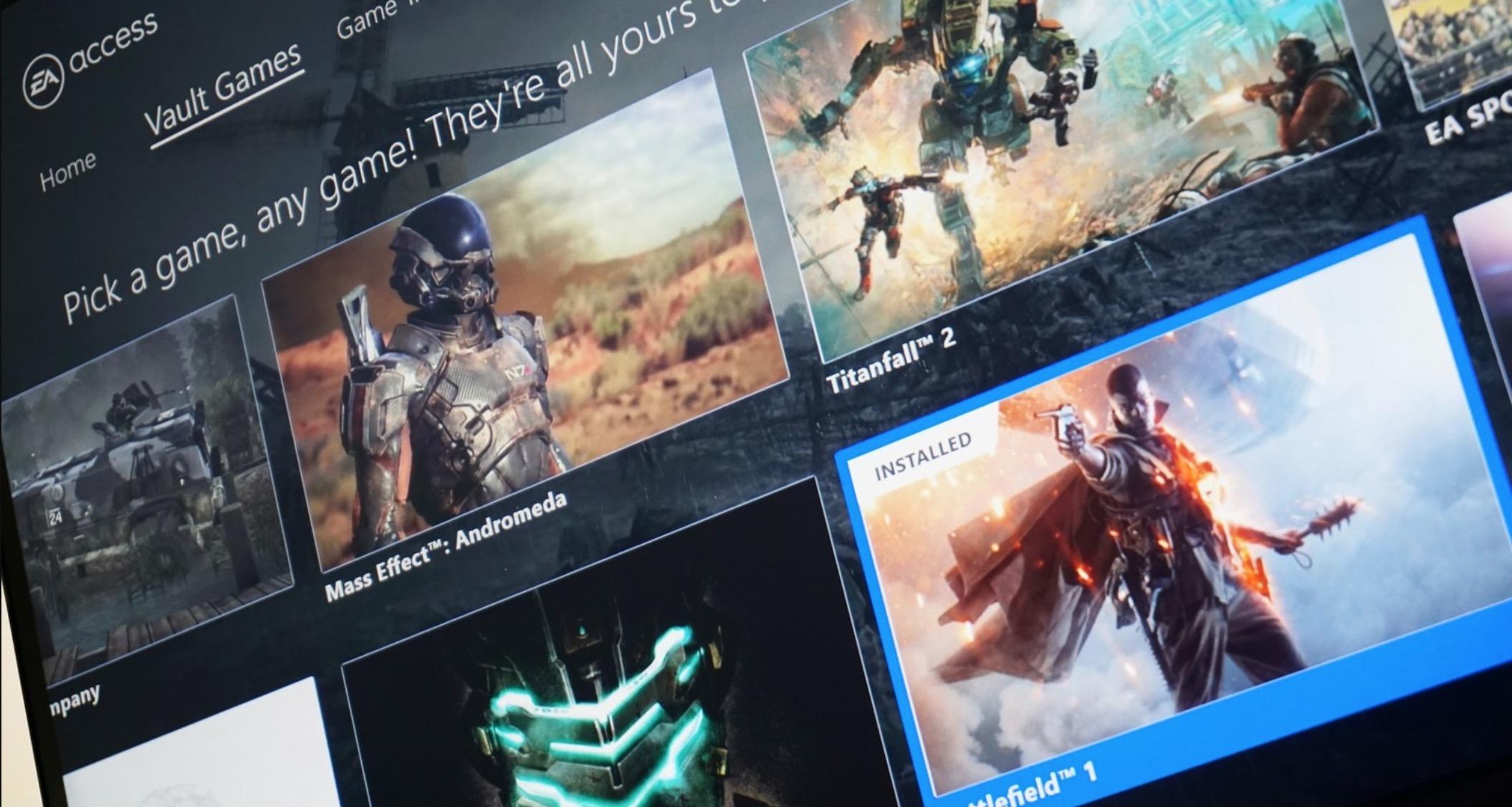 Joko berriak gehitu dira EA Access-en!