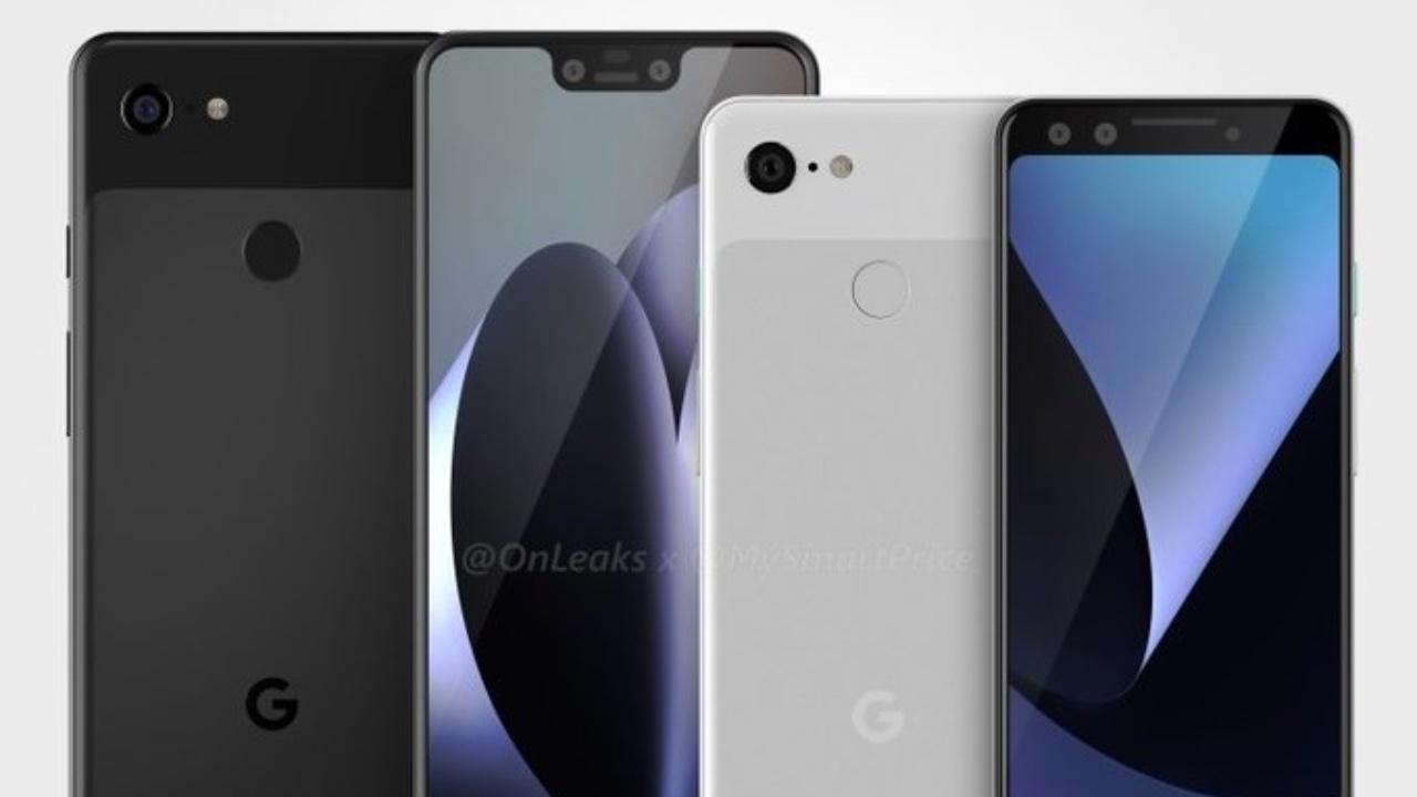 Google Pixel 3 eta Pixel 3 XL diseinua filtratu zen