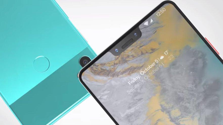Google Pixel 3 XL diseinua argia da