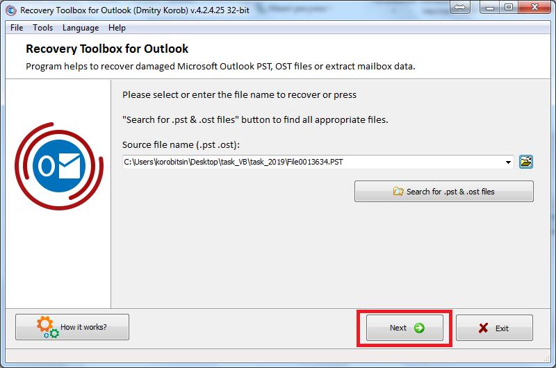 Nola berreskuratu datuen ustelkeria arazoak Microsoft Outlook-en 5