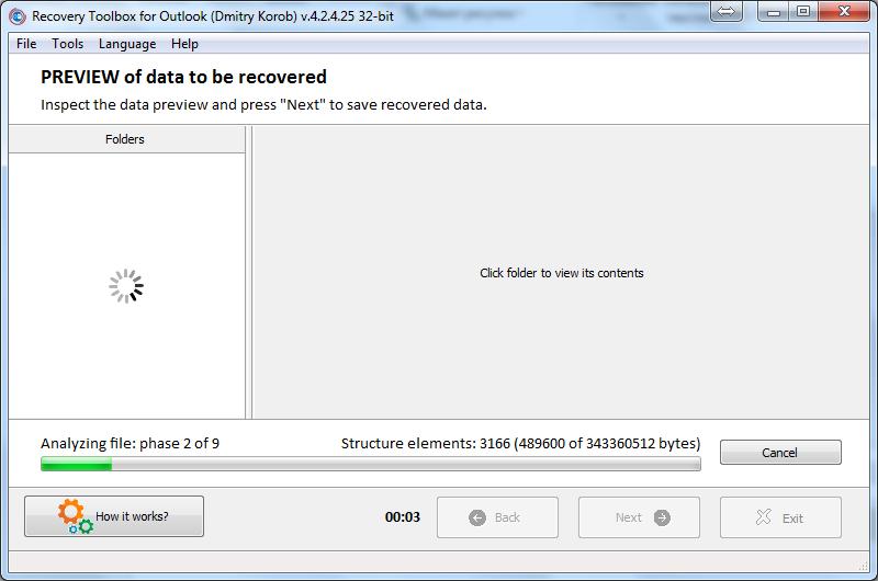 Nola berreskuratu datuen ustelkeria arazoak Microsoft Outlook-en 7
