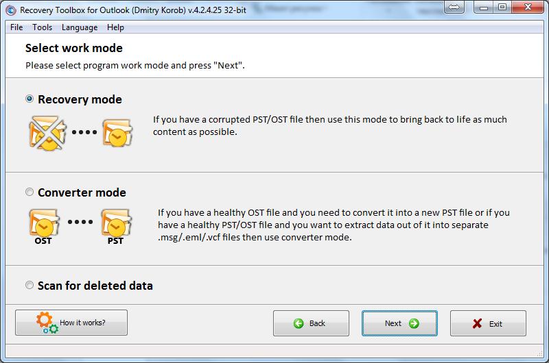 Nola berreskuratu datuen ustelkeria arazoak Microsoft Outlook-en 6