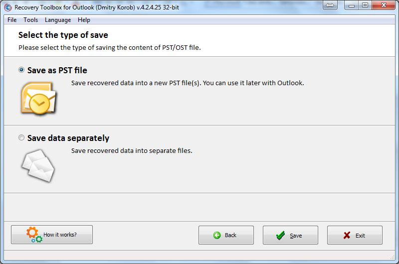 Nola berreskuratu datuen ustelkeria arazoak Microsoft Outlook-en 9