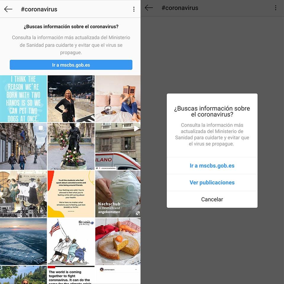 Kontuak kontu Instagram koronavirusarekin eguneratuta egoteko, albiste faltsuetan erori gabe 6