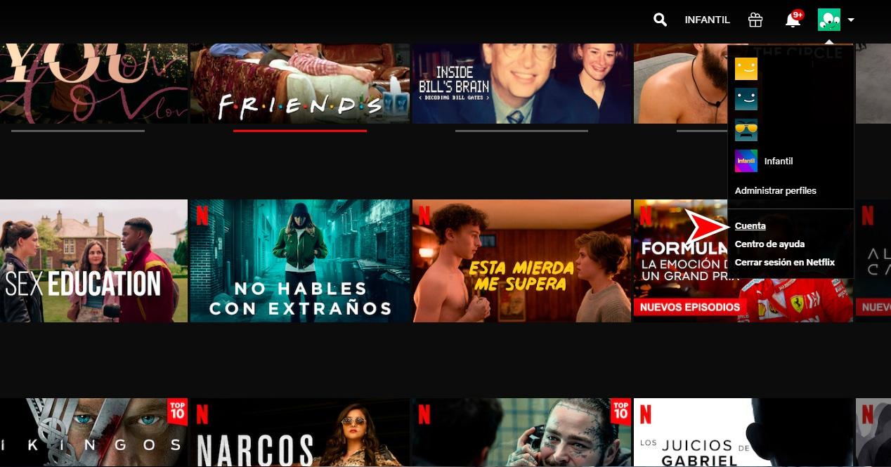 Netflixen datuen kontsumoa