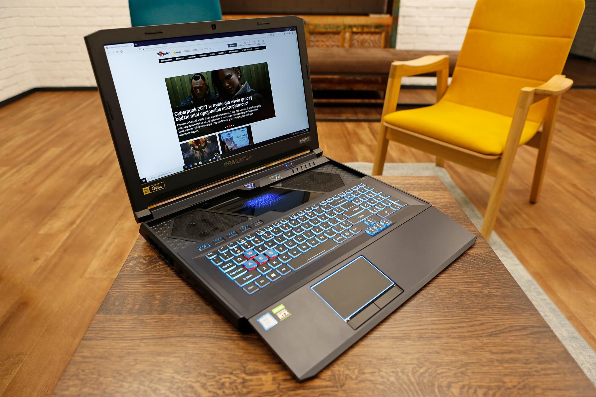 Acer Predator Helios 700 ordenagailu eramangarria proba - ahalik eta errendimendu maximoan