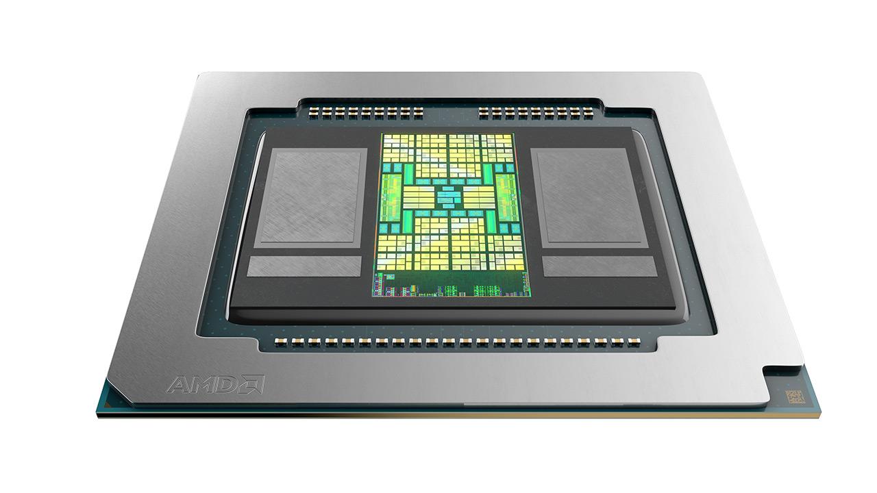 AMD Radeon Pro 5600M-rekin batera 8 GB  HBM2 memoria lehen probetan
