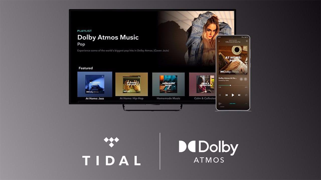 Tidal telebistetan Dolby Atmos laguntzarekin eskaintzen den lehen lurrun zerbitzua da