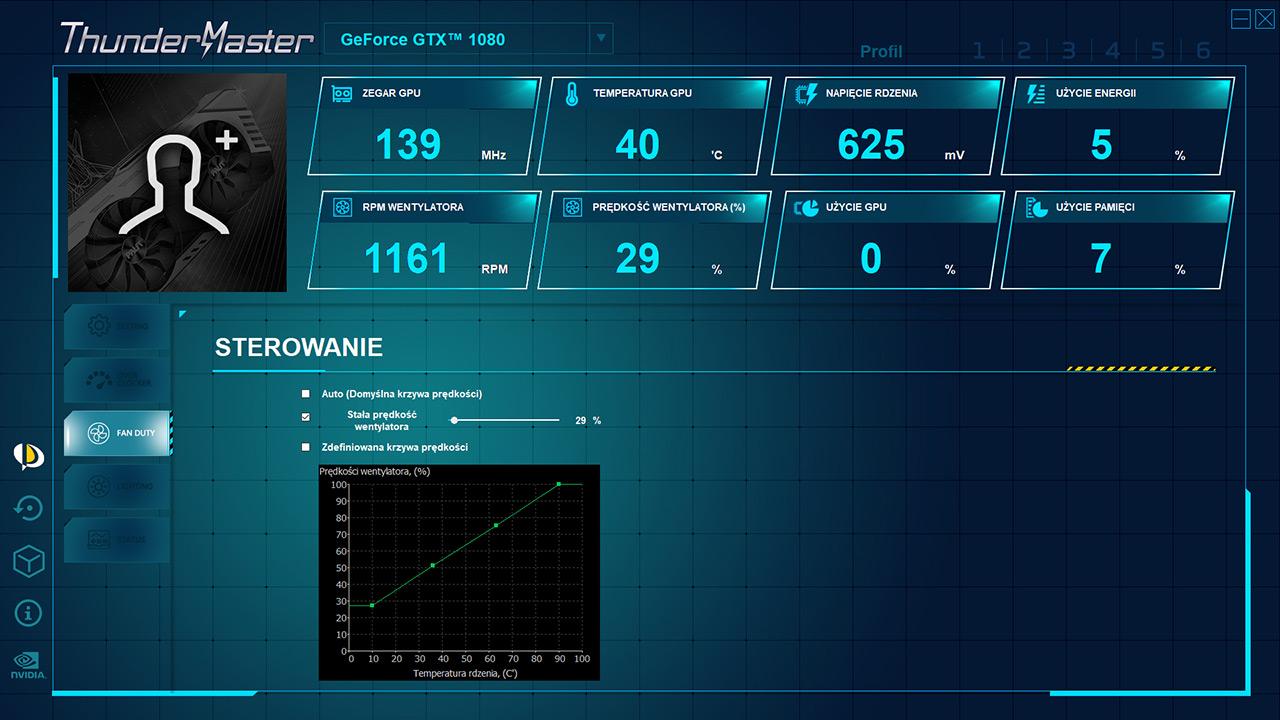 Palit ThunderMaster - bertsio berri batean txartel grafikoen overclocking aplikazioa