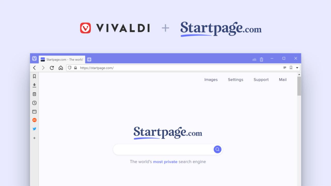 Vivaldi-k Startpage bilatzailearekin erabiltzaileen pribatutasuna bermatuko du