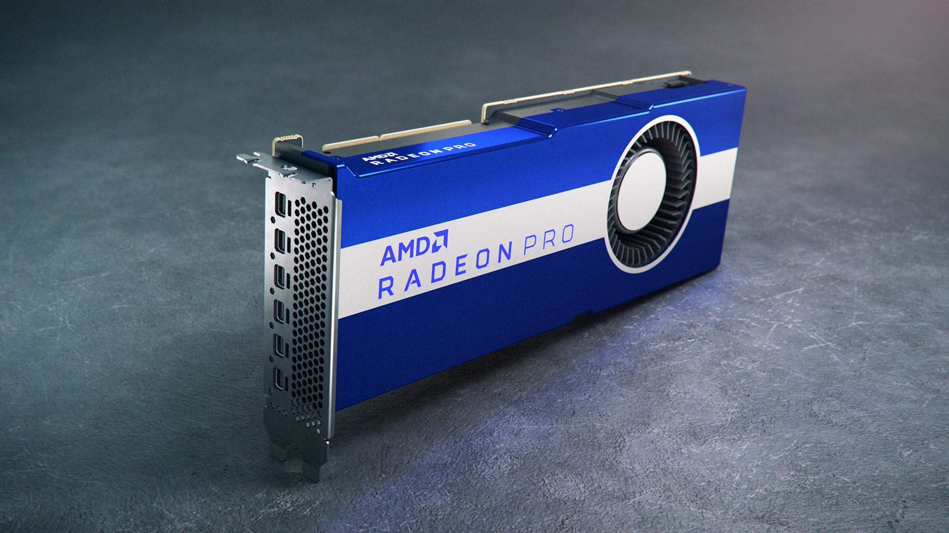 AMD Radeon Pro VII: lantokietako txartel grafiko baten aurkezpena