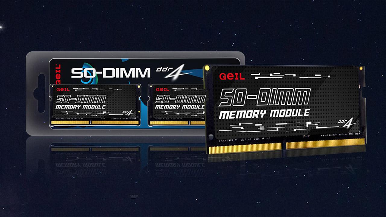 Geil SO-DIMM - 32 modulu dituzten koadernoentzako memoria seriea GB