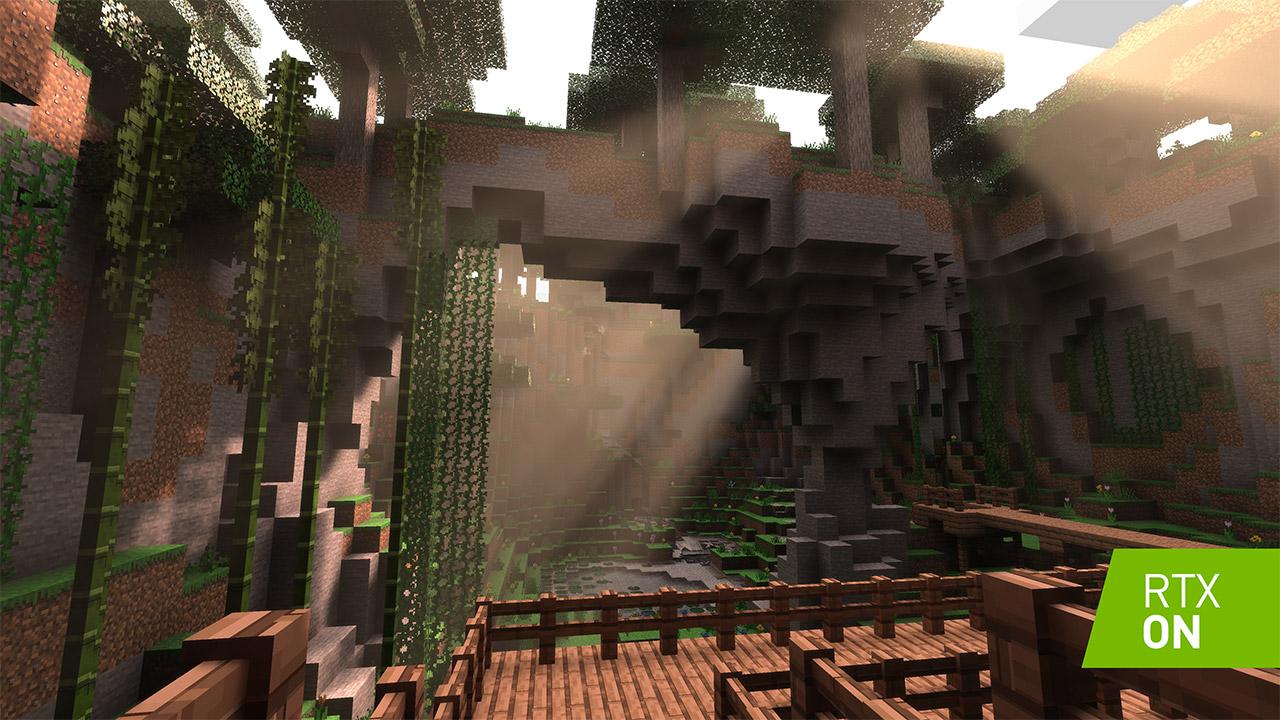 Nvidiak izpi trazatzeko material berria argitaratu du Minecraft-en