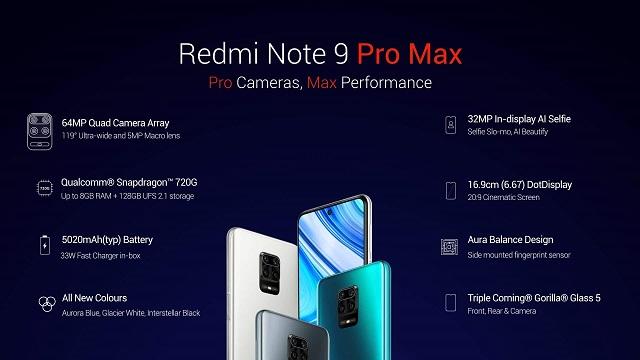 Xiaomi Redmi Oharra 9 Pro Max - zehaztapen teknikoa
