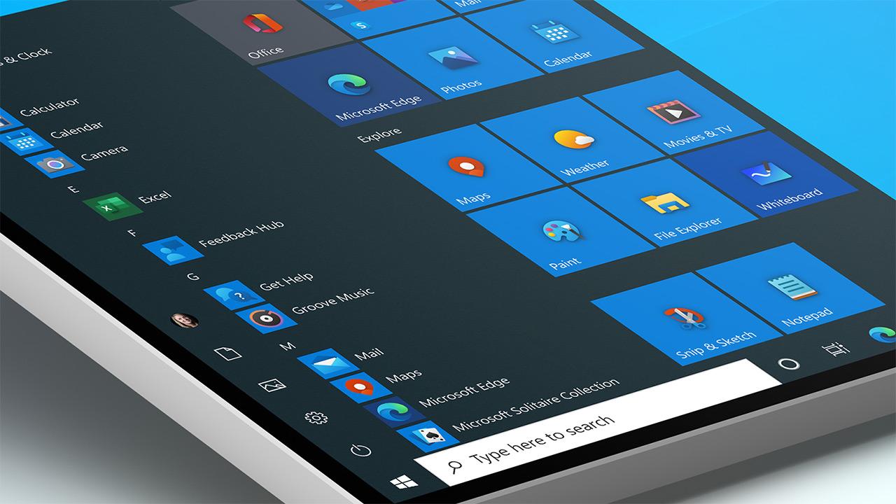Microsoft-ek sistemaren ikono berriak erakusten ditu Windows 10