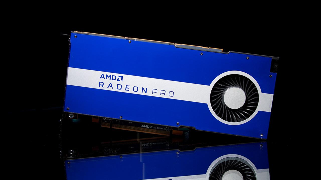 AMD Radeon Pro W5500 - lantokietako txartel grafiko baten aurkezpena