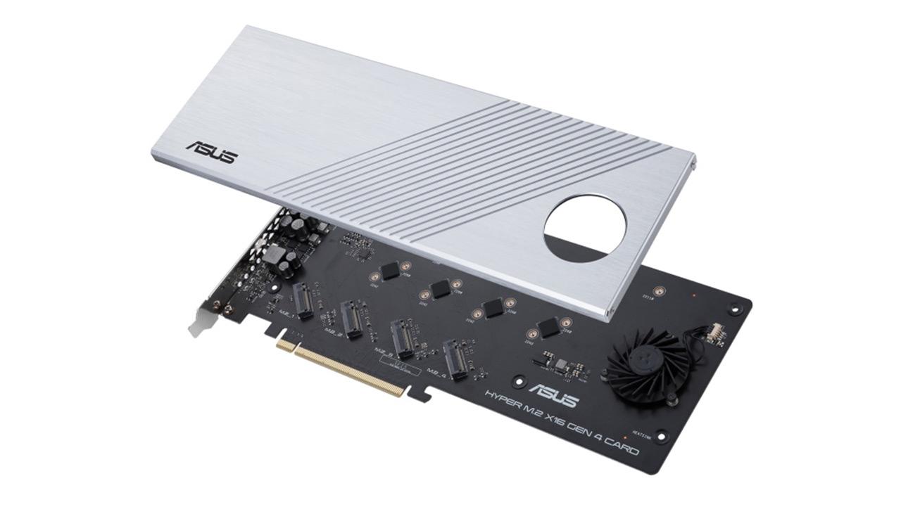 CES 2020: Asus Hyper M.2 X16 Gen 4 Lau PCIE SSDetarako espazioa duen hedapen txartela da 4.0