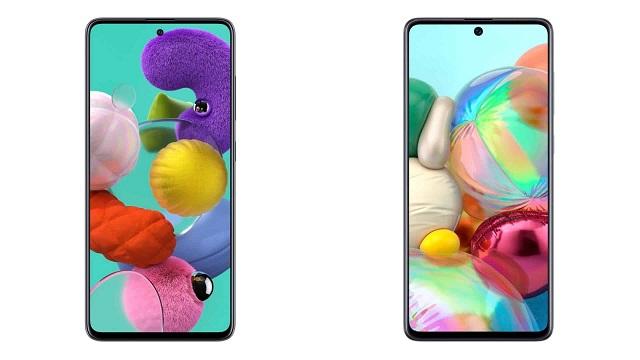 Samsung-ek ofizialki ereduak iragarri ditu Galaxy A51 eta A71