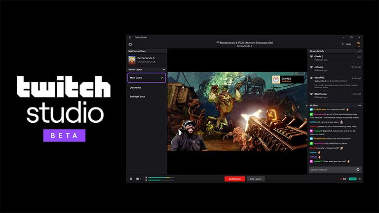 Twitch Studio - deskargatzeko eskuragarri dauden erreproduzitzaileentzako aplikazioa