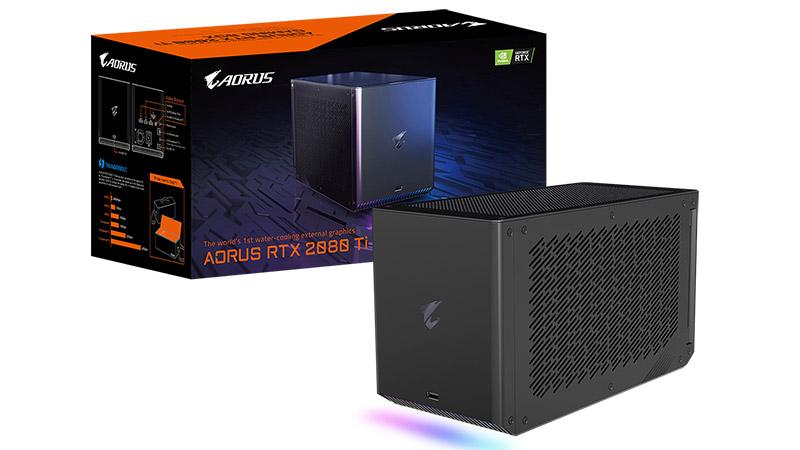 Gigabyte Aorus RTX 2080 Ti Gaming Box - eGPU estazio boteretsuaren zehaztapena