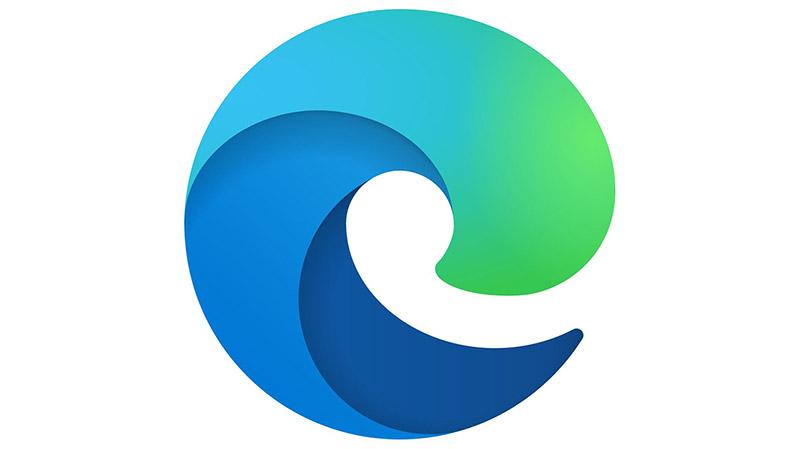 Microsoft Edge logo berriarekin eta arakatzailearen bertsio osoaren bertsio ofizialaren data