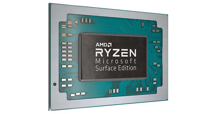 AMD Ryzen 7 3780U eta Ryzen 5 3580U Microsoft Surface Edition - Azalera Laptop gidatzen duten prozesadoreen zehaztapena 3