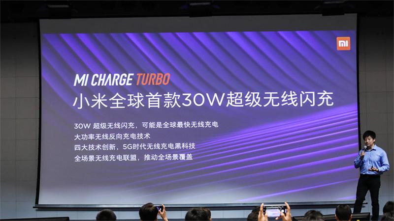 Xiaomi-k Mi Charge Turbo aurkezten du. Munduko 30 W haririk gabeko kargatzeko teknika da