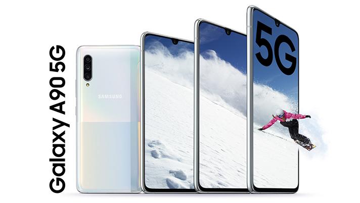 Samsung Galaxy A90 5G - 5G telefonoaren estreinaldia eta zehaztapena