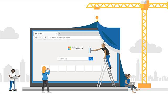 Microsoft Edge Chromium-ekin azkenean Betan