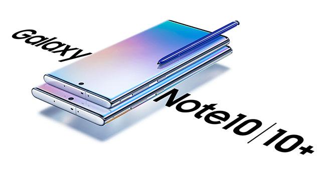 Samsung Galaxy 10. oharra eta Galaxy 10. oharra + ofizialki aurkeztua