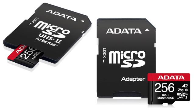 MicroSD ADATA Premier Pro High Endurance monitorizaziorako eta grabagailuetarako