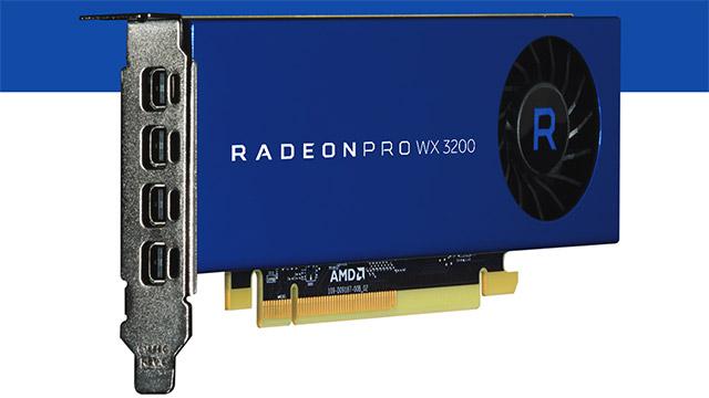 AMD Radeon Pro WX 3200 - profesionalentzako txartel merkea zehaztapena