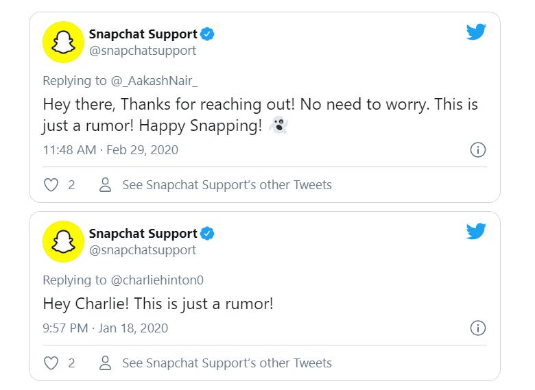 Snapchat itzaltzen al da 2020an?  Zurrumurruak Egia ala Ez ?, Tech Chums