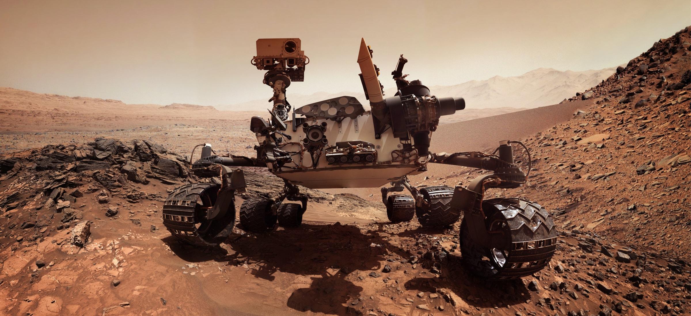 Martian Curiosity roverrek duela egun batzuk argazki bat atera zizun.  Ez zenekien ezta