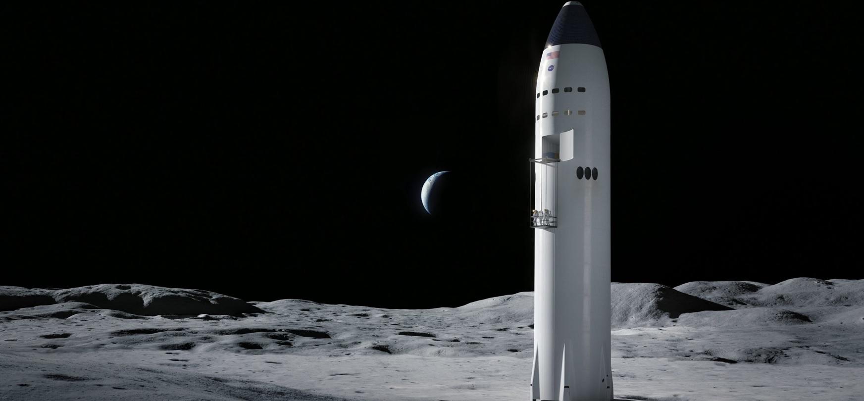 Lehen ilargiaren oinarria Starship ontzietatik eraikiko da