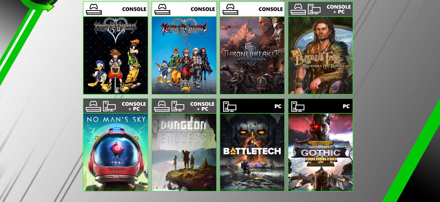 Hilabete berria, joko berriak Xbox Game Pass-en.  Kingdom Hearts, No Man's Sky eta ... Witcher ipuinak