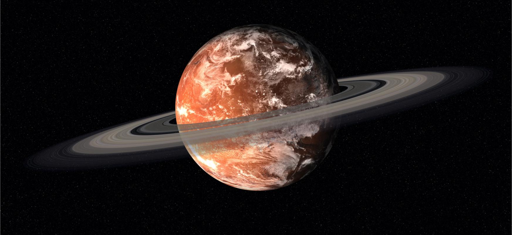 Martien ilargiak ziklikoki apurtzen dira, planetaren inguruan eraztun bat osatzen dute berriro ilargi bihurtzeko