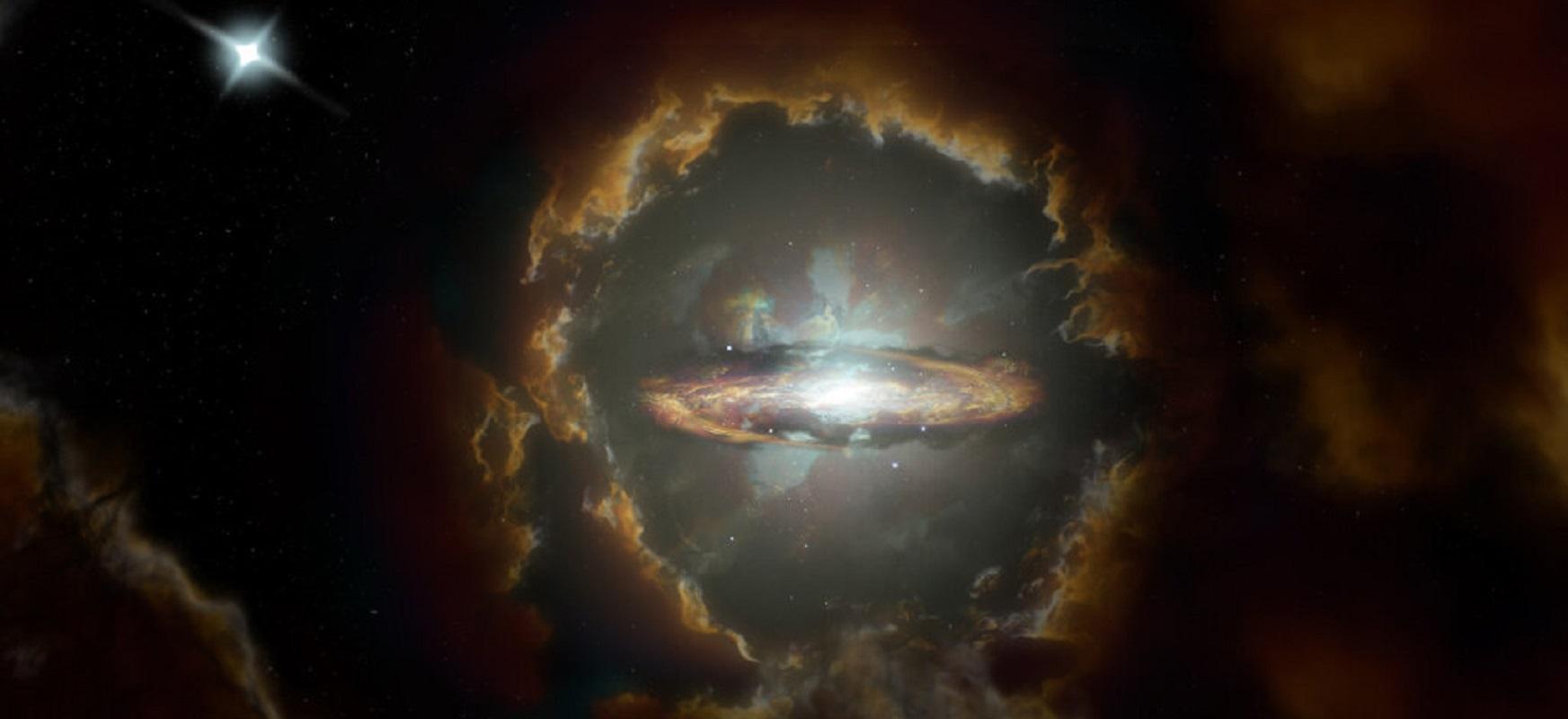 Galaxia espirale birakorra eta masiboa, unibertso hasieran  Ez zuen ustez