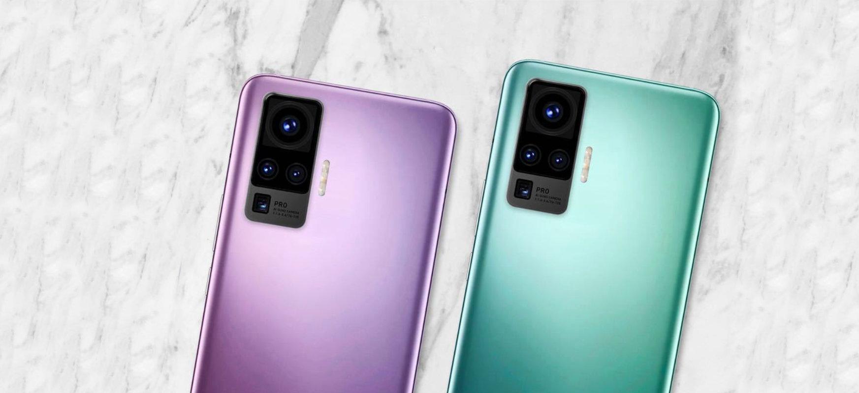 Gimbal smartphone-ean integratua.  Vivo-k X50 Pro nola funtzionatuko duen erakusten du