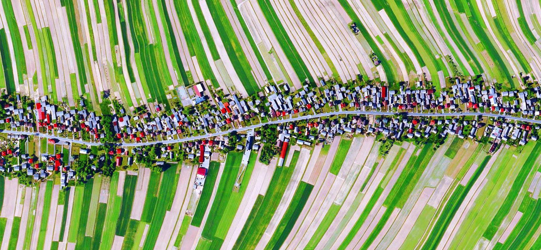 Poloniako paisaia koloretsuaren argazki batek Internet konkistatzen du.  Horrela sortu zen