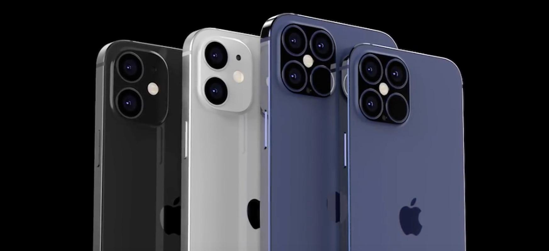 Lau iPhone 12 hiru tamainatan.  IPhone berriaren xehetasun eta prezio ugari filtratu ziren
