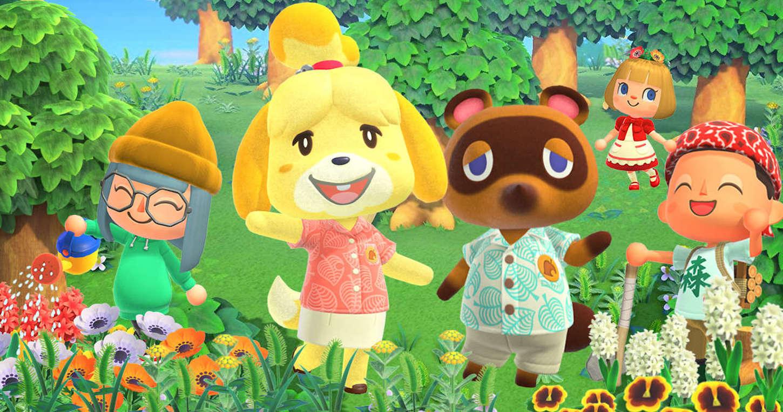 Ia 400 ordu Animal Crossing-ekin.  Mendekatuen zuhaitzak eta arrantza landatzen dituzten topaketa editoriala