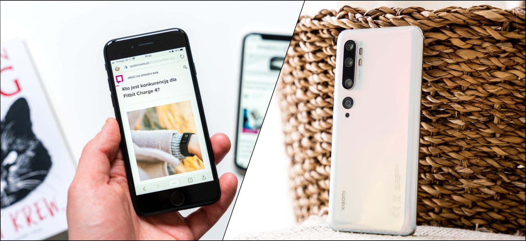 iPhone SE (ez) zuzeneko liskarra Xiaomi Mi-rekin 10. Oharra telefono merkeena Apple'Androidarekin batez bestekoaren aldean